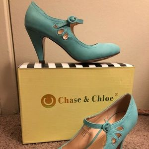 Mint Green Chase & Chloe Mary Janes